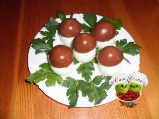 праздничная закуска из яиц