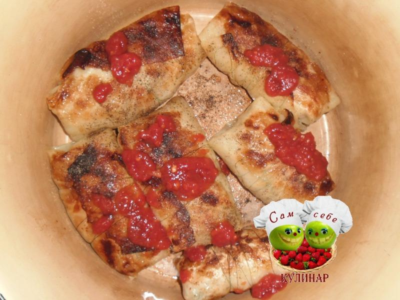 голубцы из капусты с соусом фото рецепт