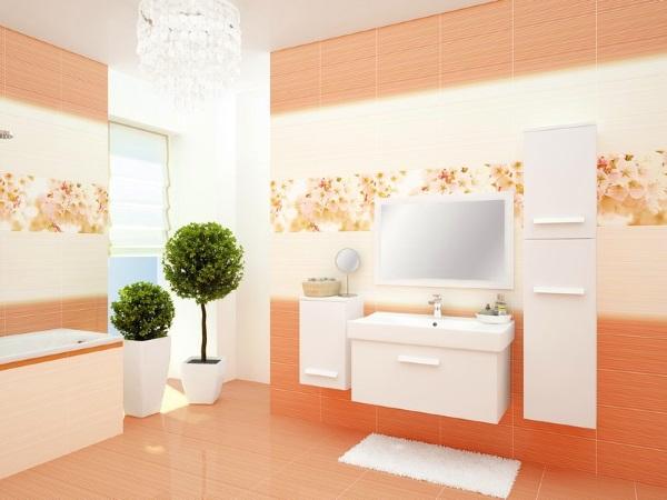 керамическая плитка для ванной комнаты светлых тонов