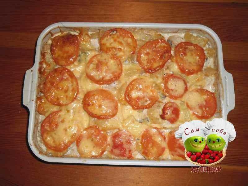 картофельная запеканка с рыбой рецепт с фото