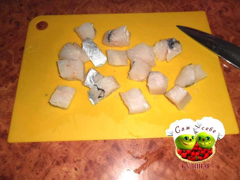 филе нарезанное крупными кусочками