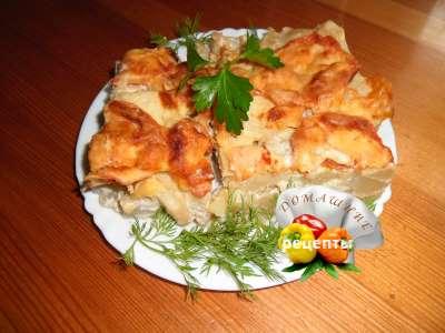 картофельная запеканка рыбная рецепт с фото