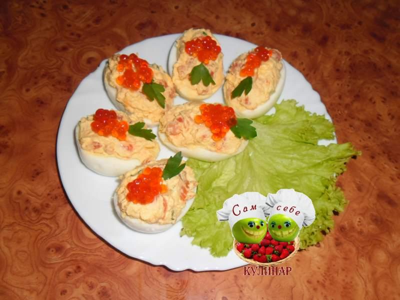 праздничная закуска рецепт с фото семга икра
