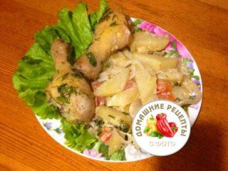 Курица с картошкой в духовке рецепт с фото пошаговый