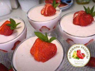 творожный десерт с клубникой рецепт с фото пошаговый
