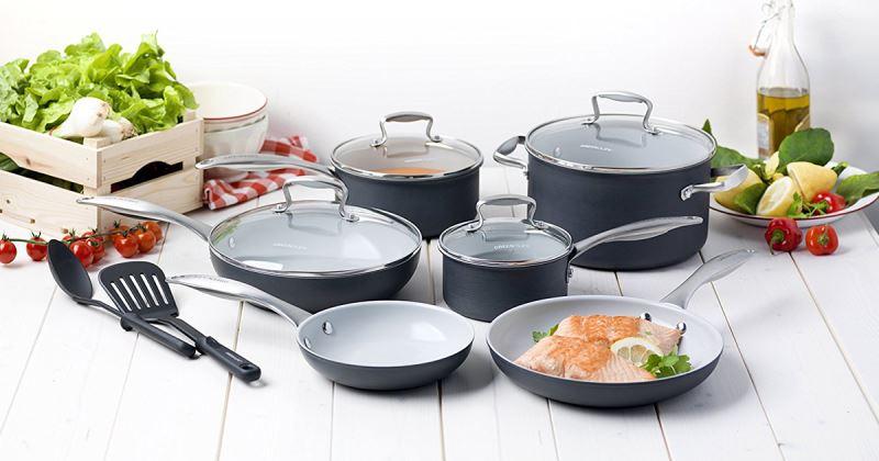 жаропрочная посуда сковородки и кастрюли