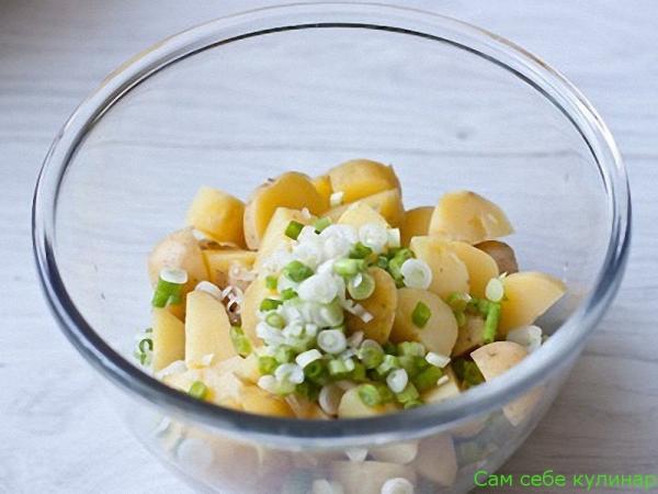 Салаты из картофеля и горошка