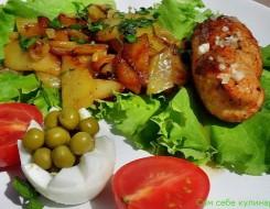 мясо под шубой с грибами и картошкой в духовке рецепт с фото из свинины